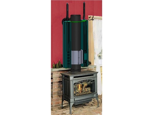 Thermoelectric Power Wood Stove High Heat Source